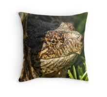 Big Snapping Turtle Throw Pillow