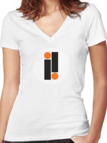Impulse Record Label Women's Fitted V-Neck T-Shirt