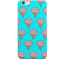 Mellow Brains Scattered cones Aqua iPhone Case/Skin