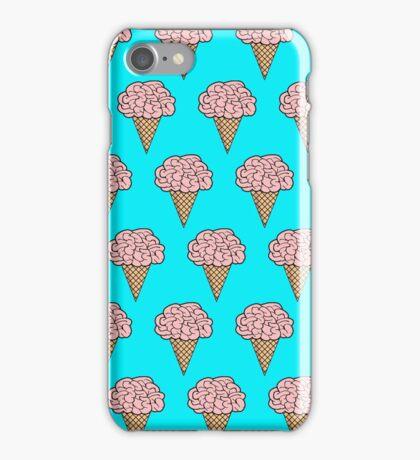 Mellow Brains Scattered cones Aqua iPhone Case/Skin