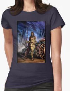 Cyberpunk Painting 077 Womens Fitted T-Shirt