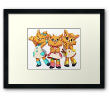 Bubsy Reboot - The Three Little Kittens Framed Print