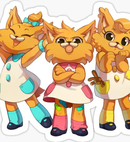 Bubsy Reboot - The Three Little Kittens Sticker
