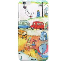 1950 Seaside Scene THE BLUE ONE iPhone Case/Skin