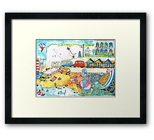 1950 Seaside Scene THE BLUE ONE Framed Print