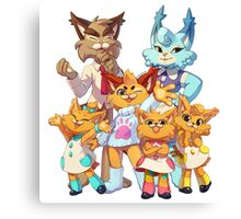 Bubsy Reboot - Bubsy's Family Canvas Print