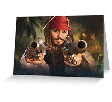 Johnny Depp Pirate Greeting Card
