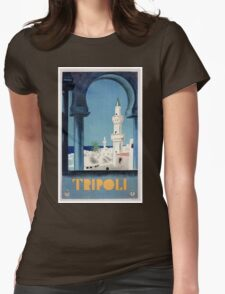 Vintage Tripoli Libya 1930 Womens Fitted T-Shirt