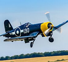 Goodyear FG-1D Corsair IV KD345 G-FGID cleaning up by Colin Smedley