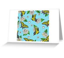 Swallowtail and Floral Pattern Greeting Card