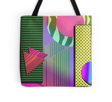 Just Can't Get Enough Eighties Retro Patterns Tote Bag