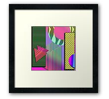 Just Can't Get Enough Eighties Retro Patterns Framed Print