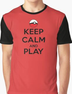 Keep calm and play!! Color Graphic T-Shirt