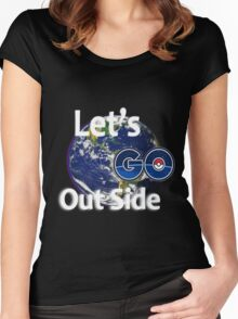 Let's Go Outside Pokemon Go Women's Fitted Scoop T-Shirt
