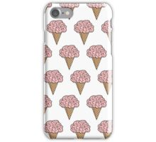 Mellow Brains Scattered cones White iPhone Case/Skin