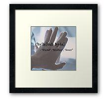 Spock/Kirk - t'hy'la Framed Print