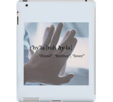 Spock/Kirk - t'hy'la iPad Case/Skin