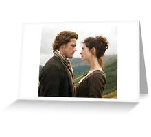 Jamie and Claire Outlander a Greeting Card