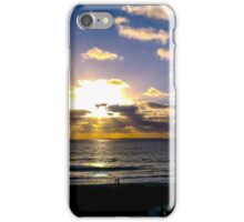 Sunset by the beach iPhone Case/Skin