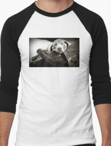 """OUR SILVER LAB """"GRACIE"""" Men's Baseball ¾ T-Shirt"""