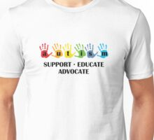 Autism Support Educate Advocate Unisex T-Shirt