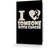 breast cancer I heart someone with cancer support Greeting Card