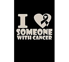 breast cancer I heart someone with cancer support Photographic Print