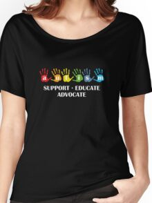 Autism Support Educate Advocate Women's Relaxed Fit T-Shirt