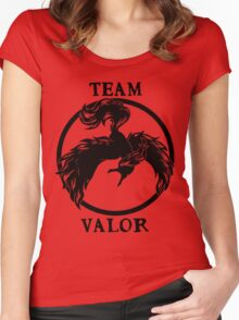 Team Valor Logo Women's Fitted Scoop T-Shirt