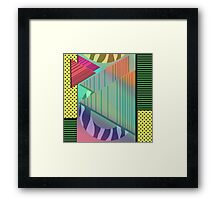 Lost in the Eighties Retro New Wave Geometric Design Framed Print