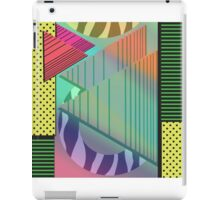 Lost in the Eighties Retro New Wave Geometric Design iPad Case/Skin