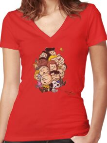 bond in kyte snoopy peanut Women's Fitted V-Neck T-Shirt