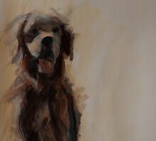 Golden Retriever Drawing, Mix Media by melanieroy