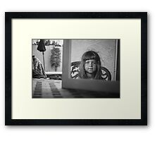Reflections of a Baby Face Framed Print