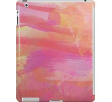 Pink Red Orange Abstract Watercolor iPad Case/Skin