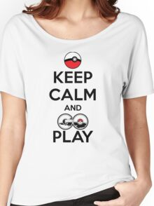 Keep calm and GO play! Women's Relaxed Fit T-Shirt