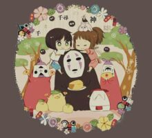 collage ghibli familly One Piece - Short Sleeve