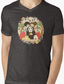 collage ghibli familly Mens V-Neck T-Shirt