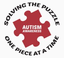 Autism : Solving The Puzzle One Piece At A Time Kids Clothes