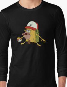 Spongegar Ash Hat Poke Trainer Funny Meme Long Sleeve T-Shirt