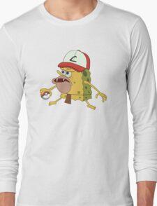 Spongegar Ash Hat Poke Trainer Funny Meme Long Sleeve T-Shirt
