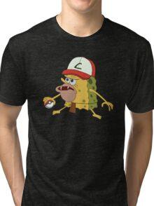 Spongegar Ash Hat Poke Trainer Funny Meme Tri-blend T-Shirt