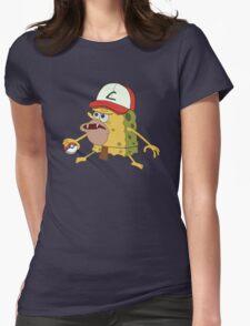 Spongegar Ash Hat Poke Trainer Funny Meme Womens Fitted T-Shirt