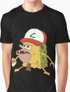 Spongegar Ash Hat Poke Trainer Funny Meme Graphic T-Shirt