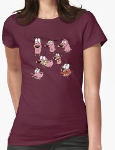 courage dog collage Womens Fitted T-Shirt