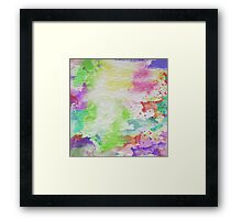 Abstract Painting Watercolor Splatter Pattern Framed Print
