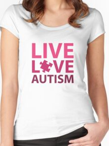 Live Love Autism Women's Fitted Scoop T-Shirt