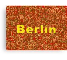 Berlin Drawing Meditation (red/yellow) Canvas Print