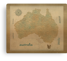 australia vintage map Canvas Print