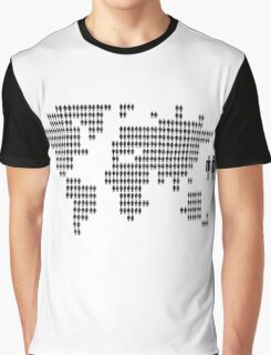 World map made from people icons Graphic T-Shirt